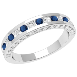 A breathtaking sapphire & diamond eternity ring in 18ct white gold