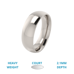 A classic courted mens ring in heavy platinum