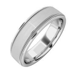An eye catching mill-grained mens ring in platinum