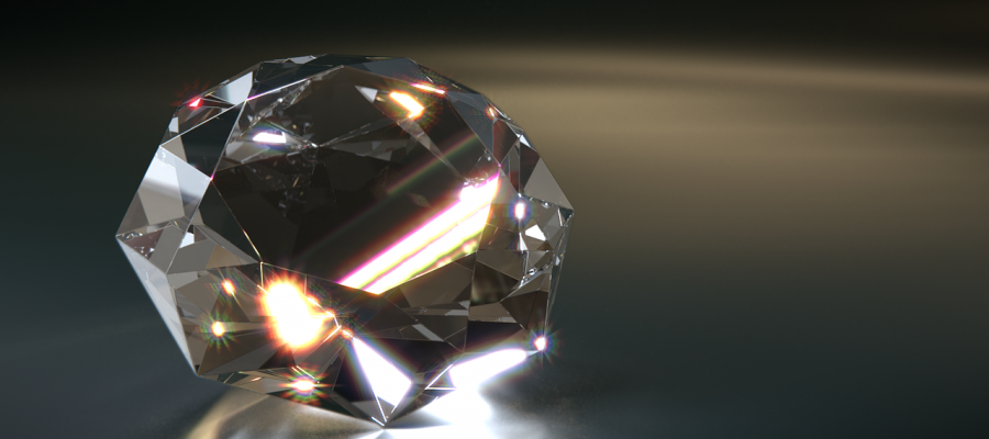 A fully formed diamond