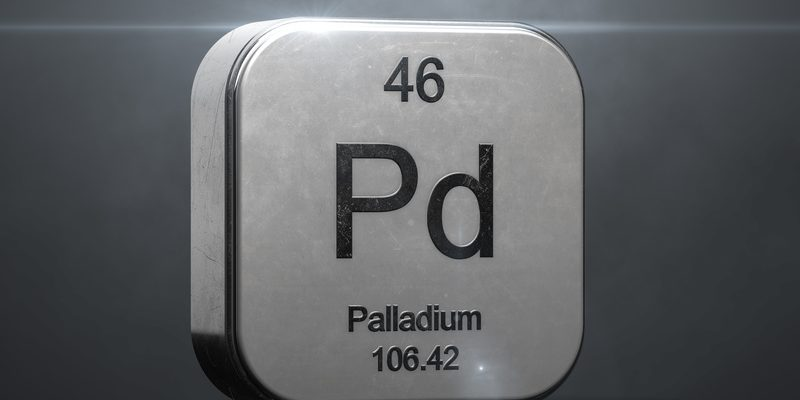 A vecotr image of palladium with it's chemical symbol