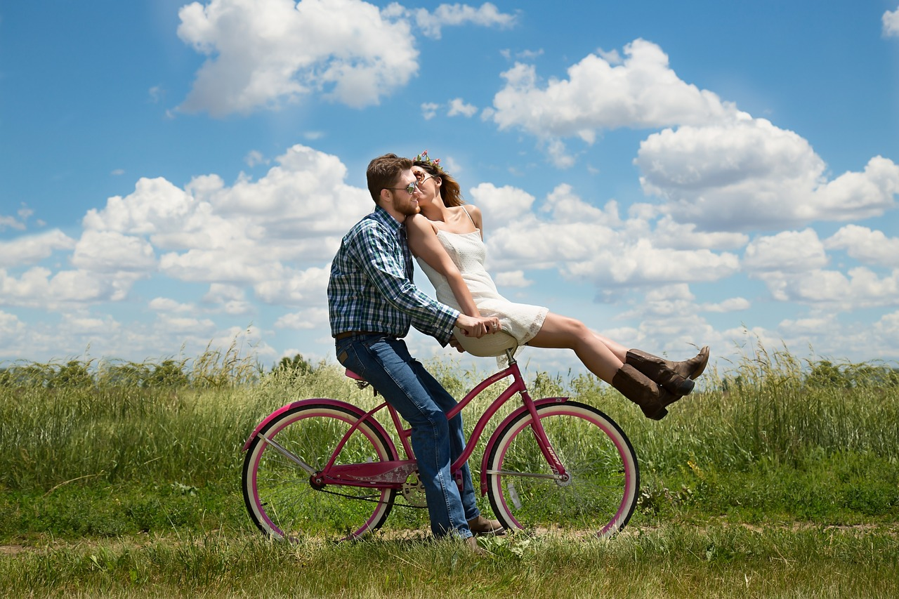 A Couple on a Biken Date