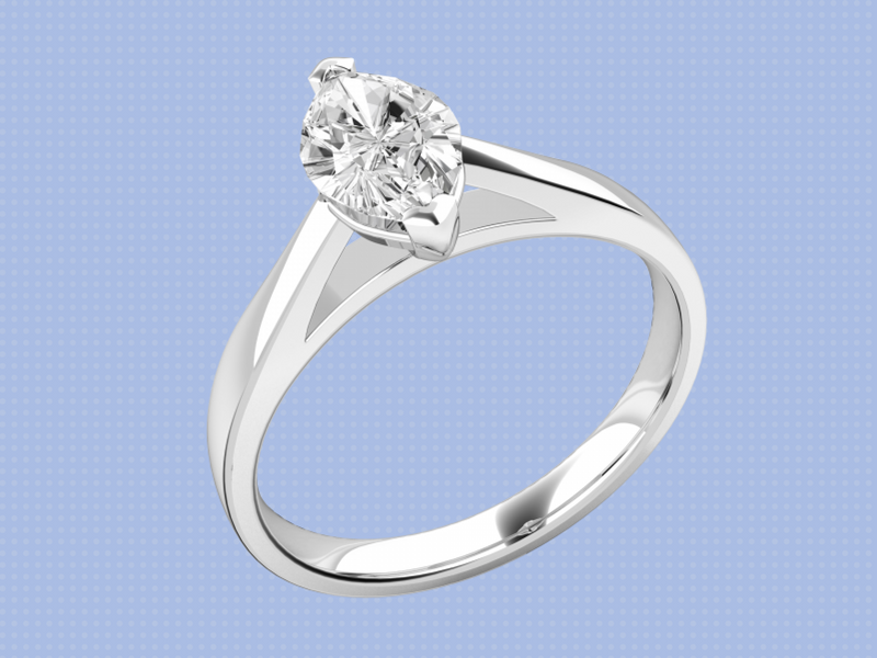 A Marquise cut ring