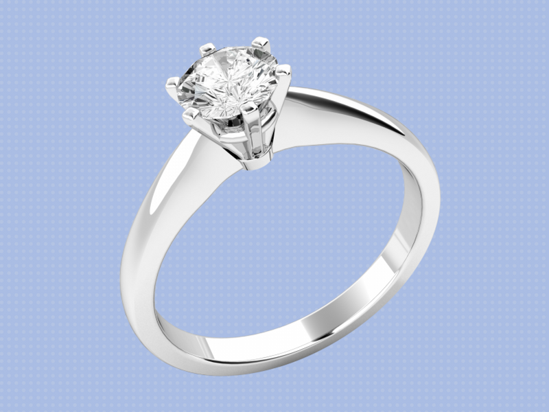 A simple 1 stone engagement ring