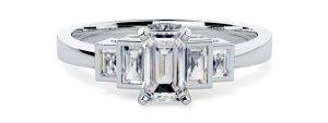 Emerald Cut Engagement Ring - pd455w
