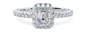 Emerald Cut Engagement Ring - pd580w