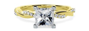 Yellow Gold Engagement Ring pd793yw