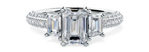 Emerald Cut Engagement Ring - pd814w