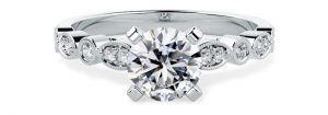 Solitaire Shoulders Engagement Ring - pd869w