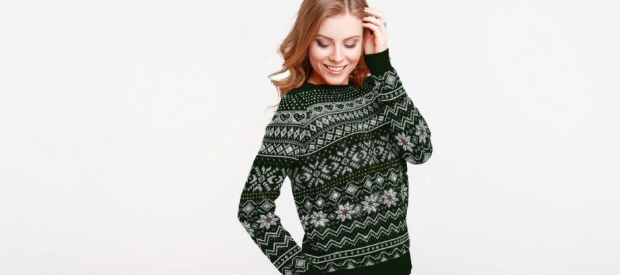 Diamond Embellished Christmas Jumper