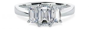 PD388 - White Gold Engagement Ring