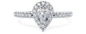 PD620 White Gold Engagement Ring