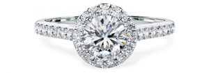 PD830 White Gold Engagement Ring