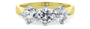 Yellow Gold Engagement Ring - pd539yw
