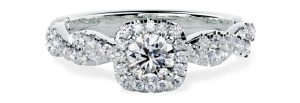 PD827PL - Platinum Engagement Ring