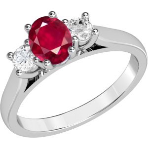 PDR493 - Ruby Engagement Ring
