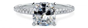 For Evermore Cushion Cut Engagement Ring