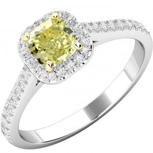 Platinum and Yellow Gold Engagement Ring