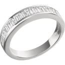 A magnificent Baguette Cut diamond eternity ring in platinum
