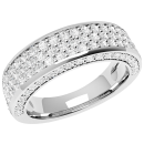 A stunning Round Brilliant Cut diamond dress/eternity ring in 18ct white gold