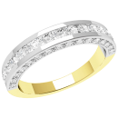 A beautiful Round Brilliant Cut diamond eternity ring in 18ct yellow & white gold