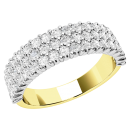 A dazzling Round Brilliant Cut diamond eternity ring in 18ct yellow & white gold