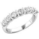 A spectacular Round Brilliant Cut diamond eternity ring in platinum