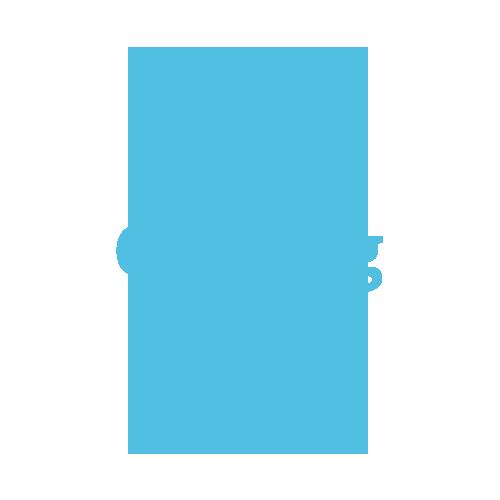 A classic three stone sapphire & diamond ring in 18ct white gold