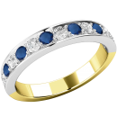 A stunning sapphire & diamond eternity ring in 18ct yellow & white gold