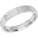 An eye catching diamond set ladies wedding ring in palladium