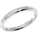 A beautiful diamond set courted ladies wedding ring in 18ct white gold (In stock)