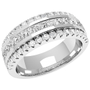 A breathtaking diamond set ladies wedding ring in 18ct white gold