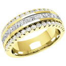 A breathtaking diamond set ladies wedding ring in 18ct yellow gold
