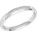 A classic diamond set ladies wedding ring in platinum