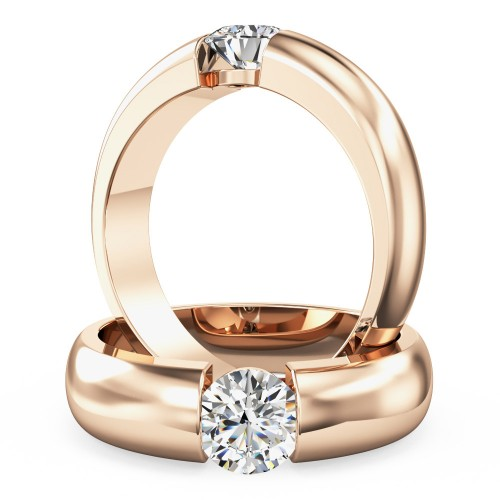 A beautiful Round Brilliant Cut solitaire diamond ring in 18ct rose gold