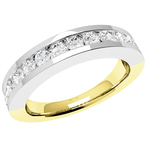 A breathtaking Round Brilliant Cut diamond eternity ring in 18ct yellow & white gold