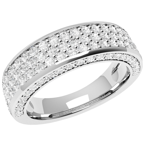 A stunning Round Brilliant Cut diamond dress/eternity ring in platinum