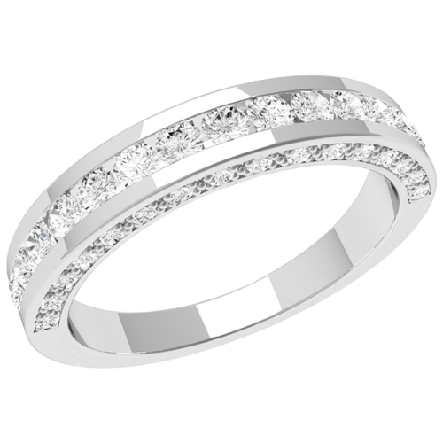 A beautiful Round Brilliant Cut diamond eternity ring in platinum
