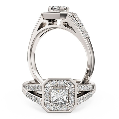 A stunning Princess Cut diamond ring in platinum