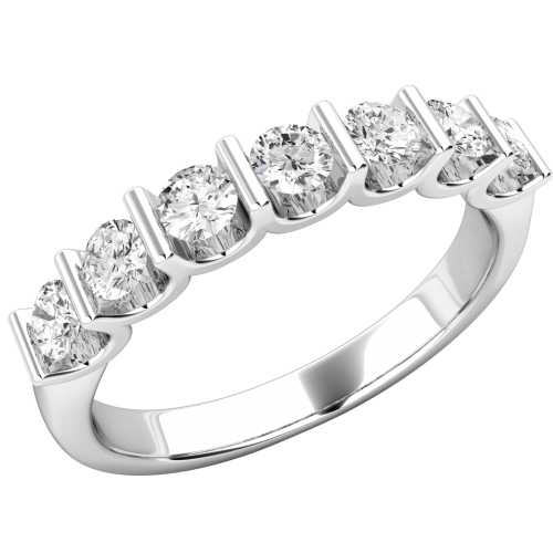 A spectacular Round Brilliant Cut diamond eternity ring in 18ct white gold