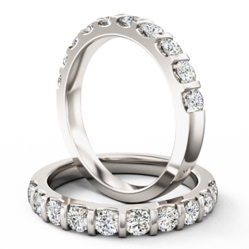 A dazzling Round Brilliant Cut diamond eternity/wedding ring in 18ct white gold