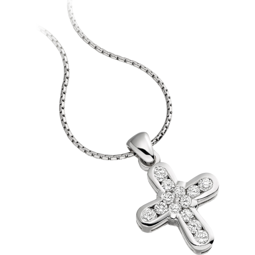 cross white diamonds product necklace with chains lily jewelers gold in diamond