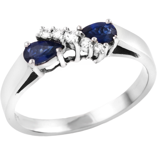 A beautiful sapphire & diamond ring in 18ct white gold