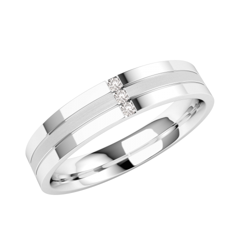 A striking ladies diamond set wedding ring in 18ct white gold