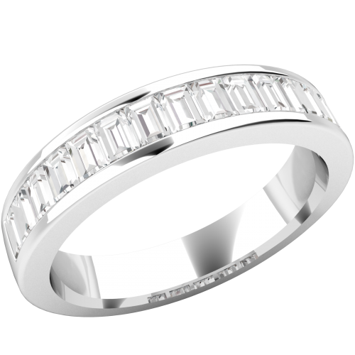 A magnificent Baguette Cut diamond wedding/eternity ring in platinum