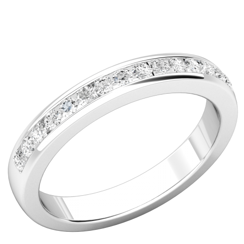 A beautiful round brilliant cut diamond set wedding/eternity ring in platinum