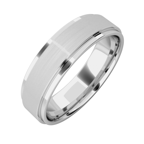 A stunning mixed finish mens ring in palladium