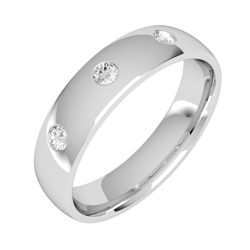 A classic Round Brilliant Cut diamond set ring in 18ct white gold