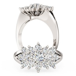 A beautiful Round Brilliant Cut dress diamond ring in platinum
