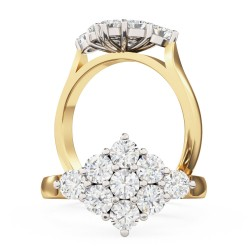 A beautiful round brilliant cut diamond ring in 18ct yellow & white gold